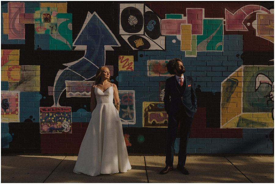 Intimate Filament Theater Chicago Wedding Portage Park
