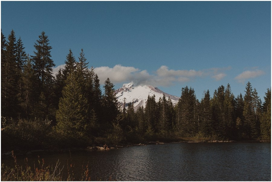 mt hood behind mirror lake