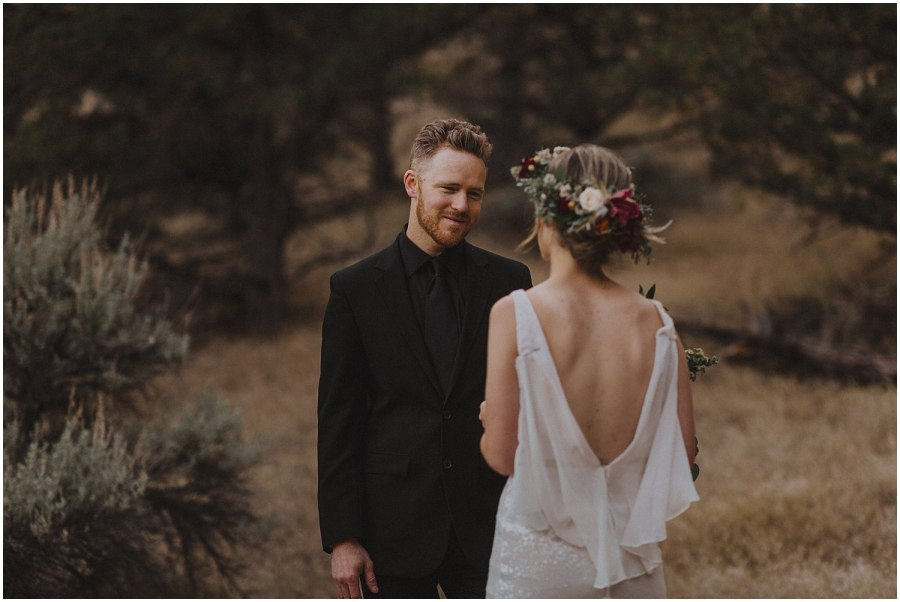 groom looking lovingly at bride oregon elopement and wedding photographer kyle szeto