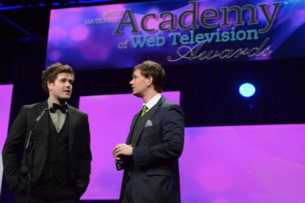 Presenting at the IAWTV awards