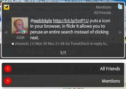 The box that pops up when Tweetdeck updates