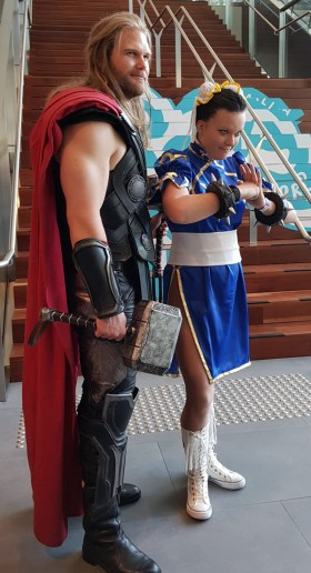 I met Thor on my way to the Green Room