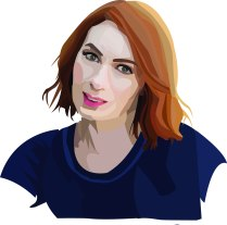 Felicia Day portrait in Illustrator