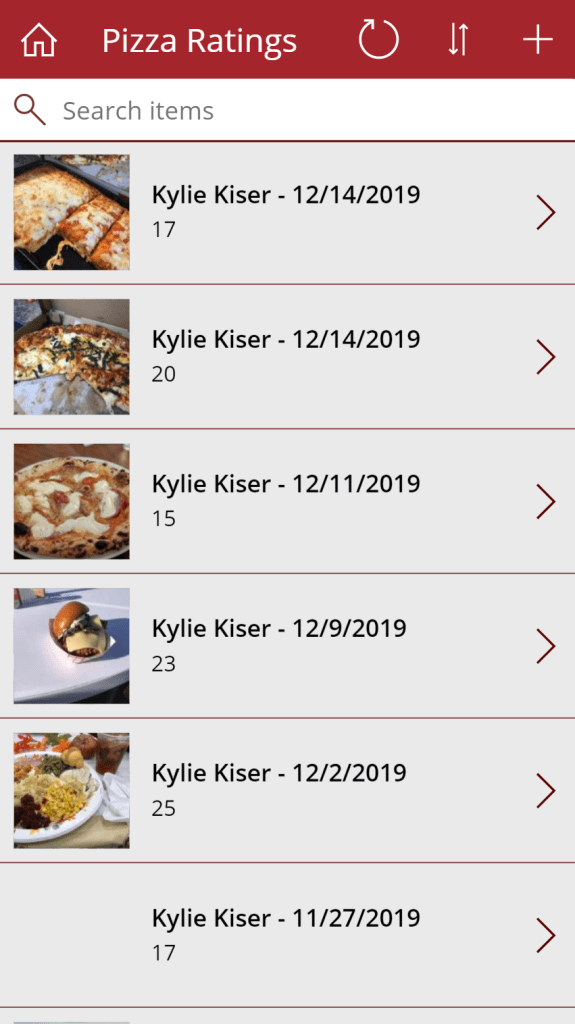 Pizza Rating Gallery