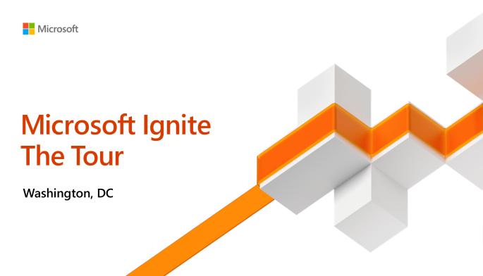 Microsoft Ignite the Tour DC