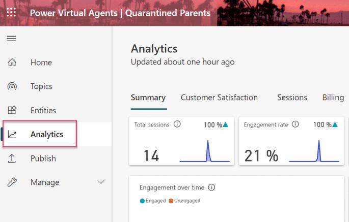 Power Virtual Agents Analytics