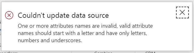 Error on Attribute Names