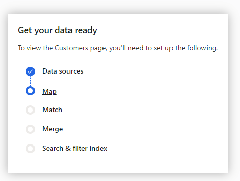 Data Sources done, Mapping next