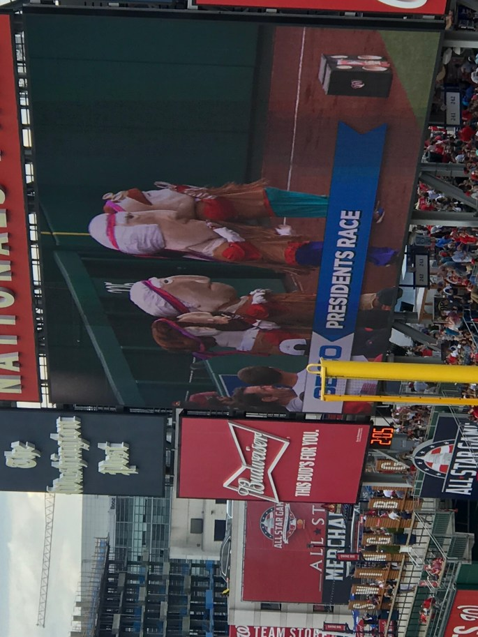 Presidents Race at Nationals Park