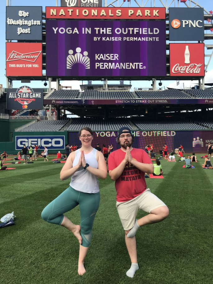 Washington Nationals Yoga in the Outfield