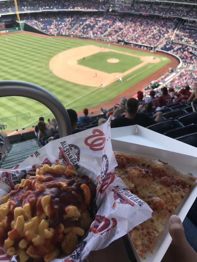 Fries and Pizza at Washington Nationals Park