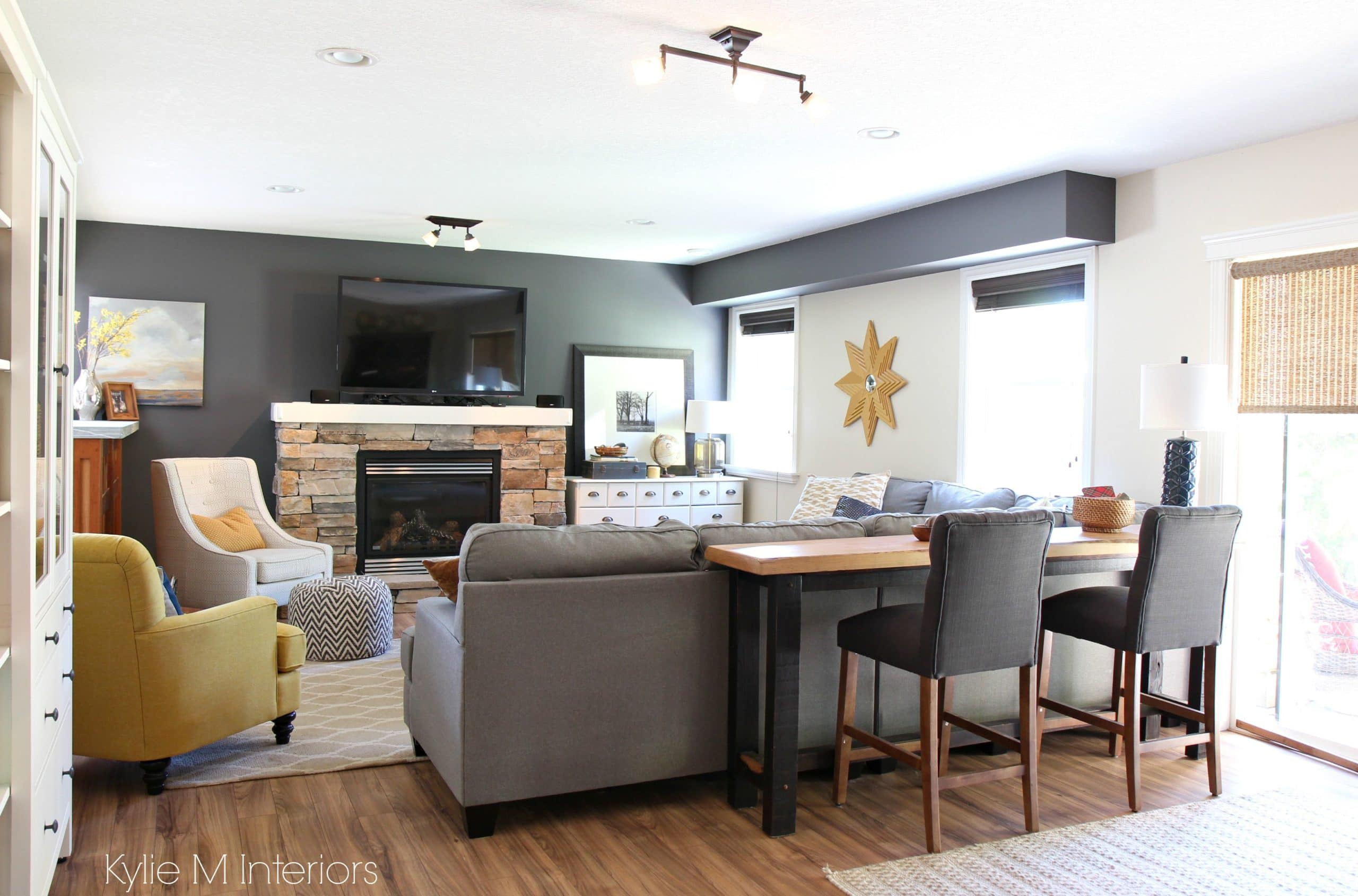 Family Room Decorating Ideas With Tv Over Stone Fireplace