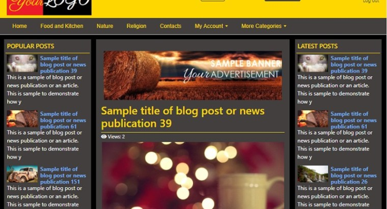 News and Blogging Website with Web Hosting