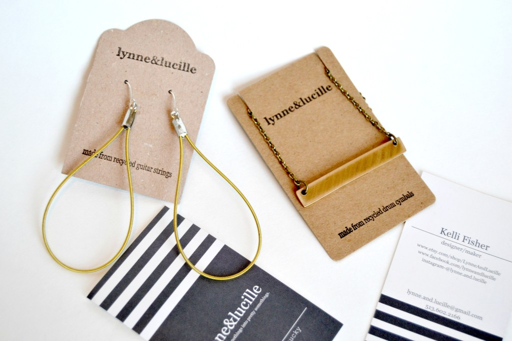 If you're looking for a unique gift idea for your Bridesmaids, then the jewelry from Lynne and Lucille etsy shop are a great option. Any gifts that are handmade are extra thoughtful and always well received. These pieces are all crafted from recycled materials such as leather, musical instruments and even animal bones.