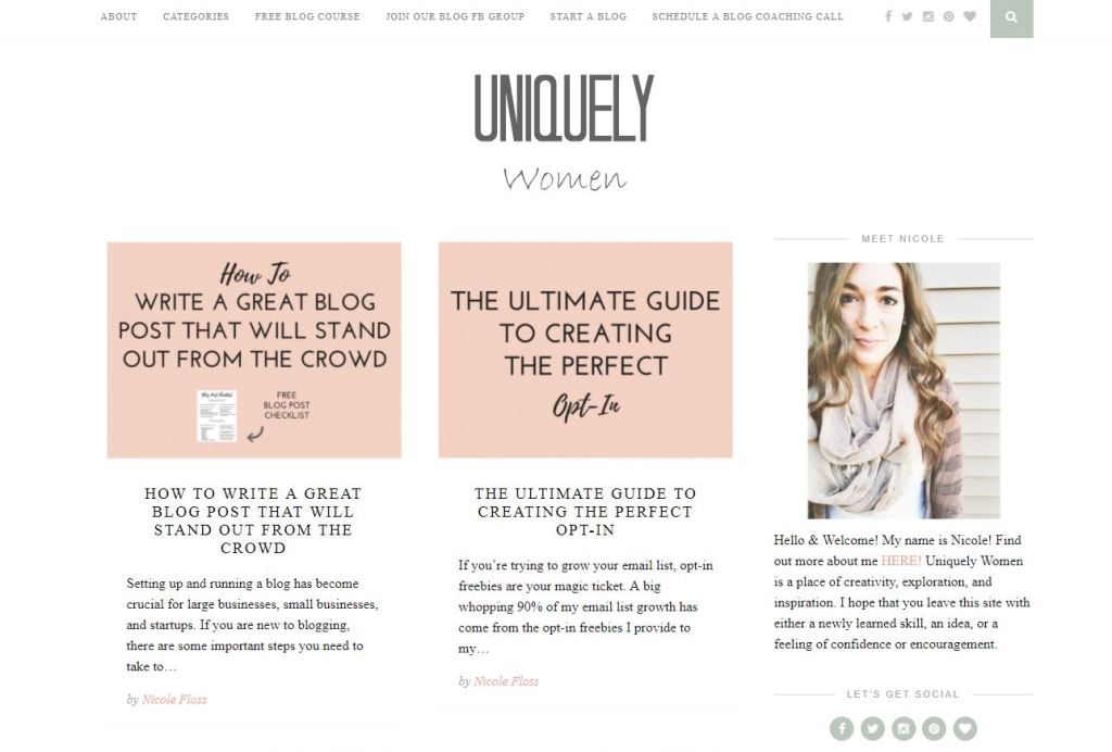 Uniquely Women is a blog that provides coaching, tips and tricks to dive into the blogging biz and help you through the process whether you're a new blogger or a seasoned pro.