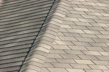 Clean shingle roof