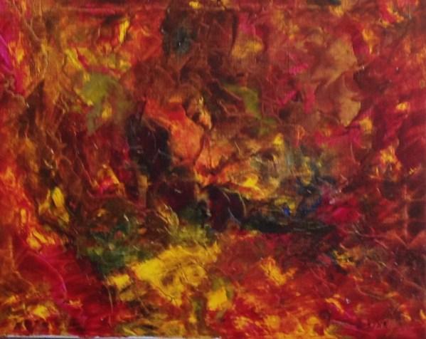 Art abstrait, Kyna de Schouël artiste peintre