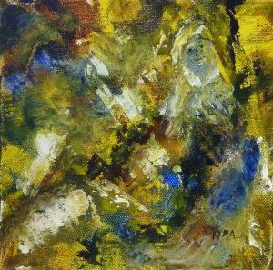 L'inconnu, peinture abstraite, Kyna de Schouël artiste peintre
