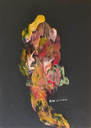 La chanteuse, peinture abstraite, Kyna de Schouël artiste peintre