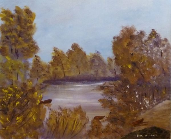 La rivière, Kyna de Schouël artiste peintre