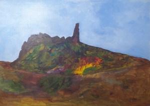 Volcan, art figuratif, Kyna de Schouël artiste peintre