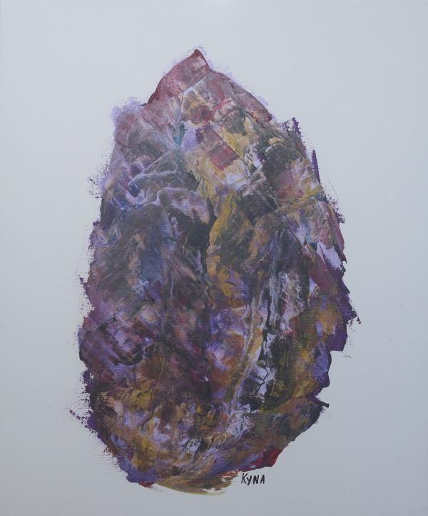 L'homme médecine, art abstrait, Kyna de Schouël artiste peintre