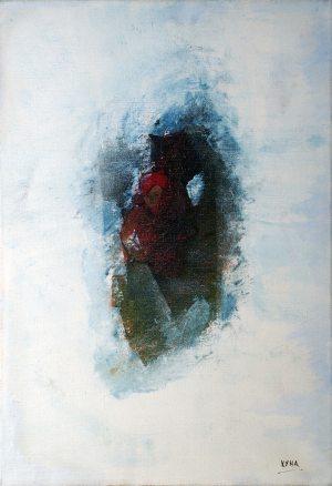 Méditation du fakir, art abstrait, Kyna de Schouël artiste peintre