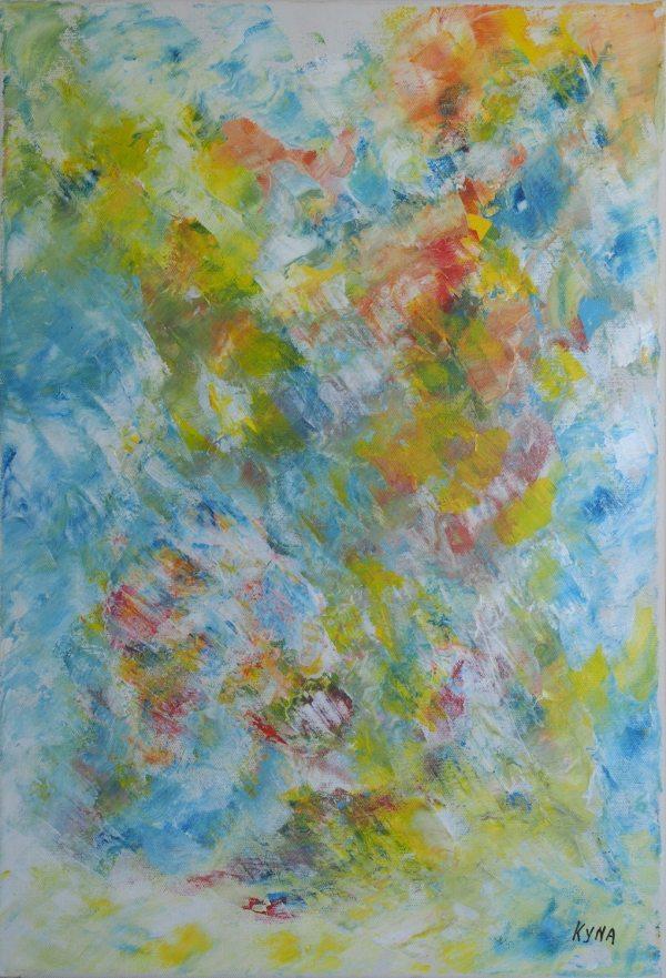 Miroir d'eau, art abstrait, Kyna de Schouël artiste peintre