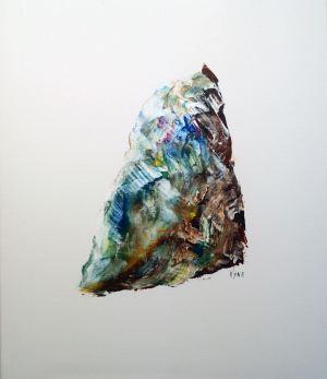 Rêve de glace, art abstrait, Kyna de Schouël artiste peintre
