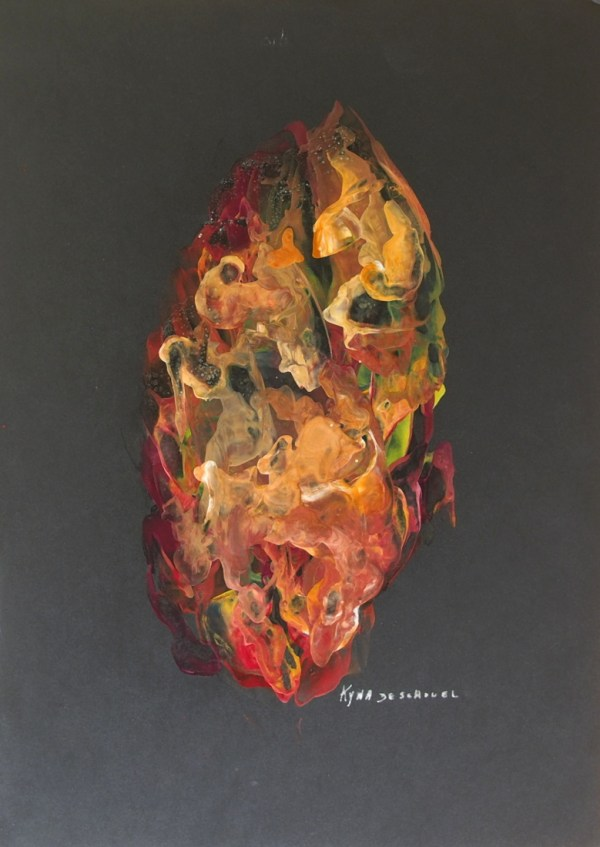 Talisman, peinture abstraite, Kyna de Schouël artiste peintre