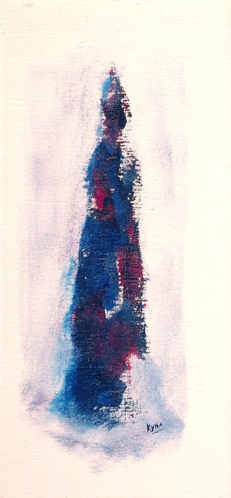 L'indonésienne, peinture figurative, Kyna de Schouël artiste peintre