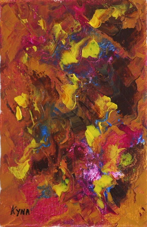 Le perroquet, art abstrait, Kyna de Schouël artiste peintre