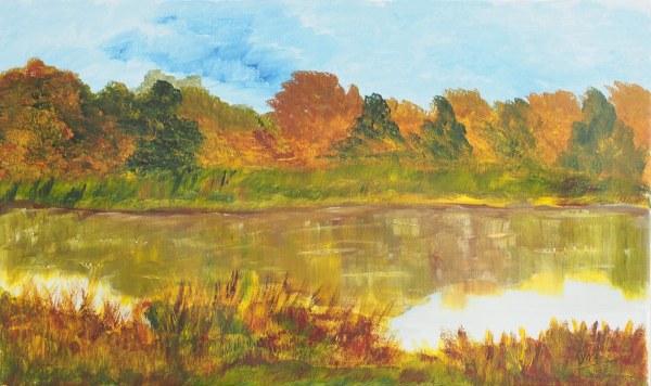 L'étang, Kyna de Schouël artiste peintre