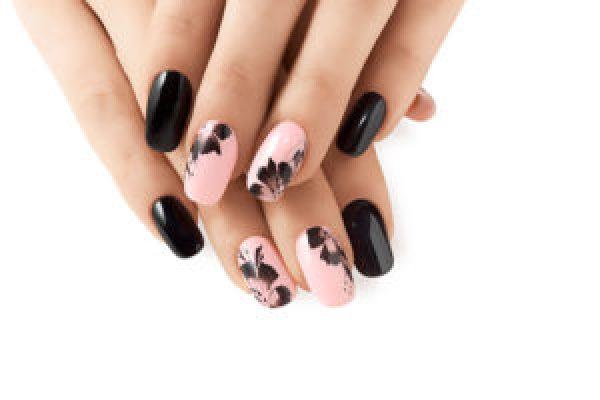 Phối màu đen và hồng