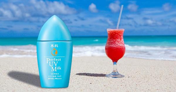 Kem chống nắng cho da dầu Senka Perfect UV Milk SPF50+/ PA++++