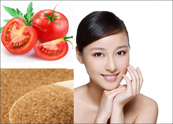 Mặt nạ cà chua đường nâu đơn giản, dễ làm