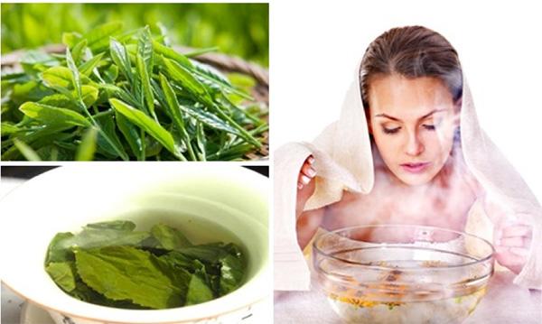Xông hơi bằng nước trà xanh là một phương pháp an toàn mà hiệu quả