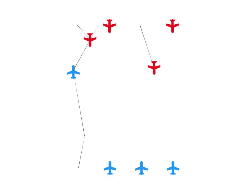 ロゴデザイン-飛行機ゲーム-盤面