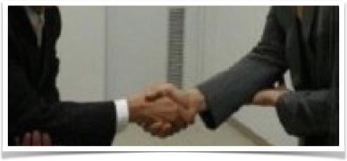 韓国式握手 画像