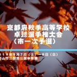 【高体連】秋季卓球選手権大会(市1次予選) 試合結果