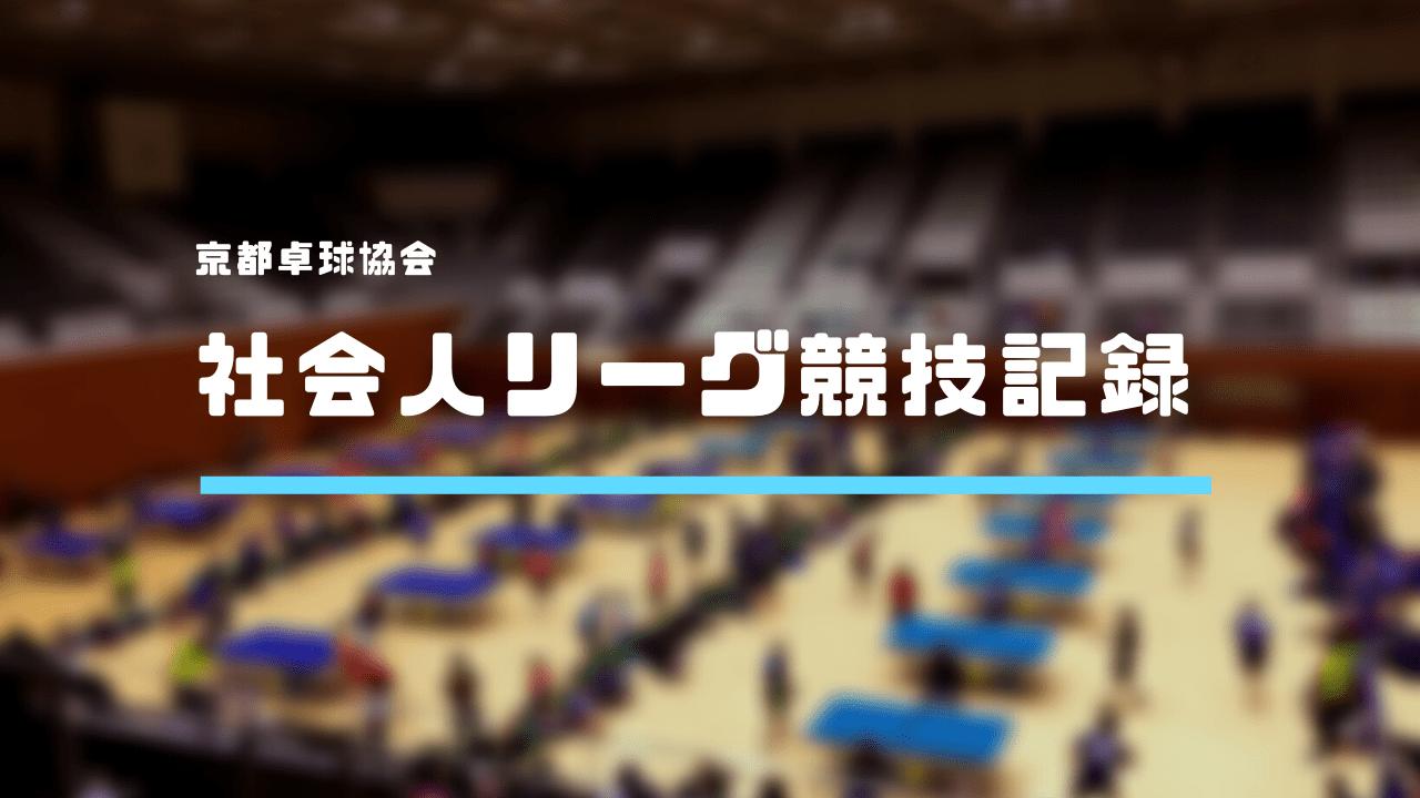 【京都卓球協会】 2019年度  第3回社会人リーグ男子トップリーグ・レギュラーリーグ競技記録