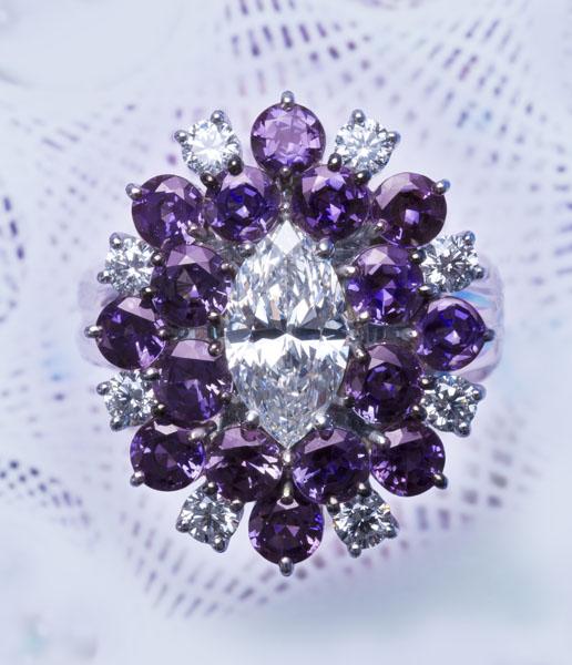 Alexandrite / Diamond Ring AT159