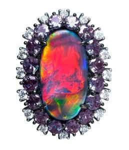 Black Opal Ring AT181