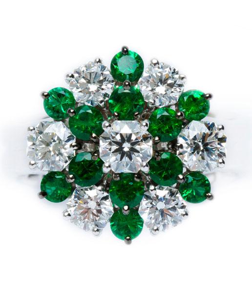 Emerald / Diamond Ring