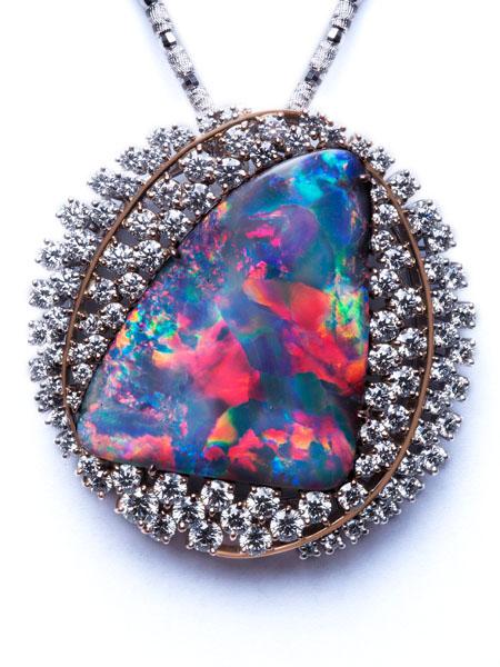 Boulder Opal Brooch / Pendant