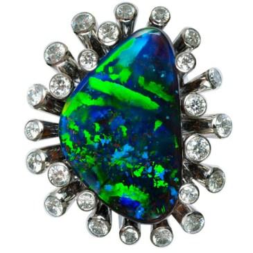 """""""Neptune's Ring"""" Boulder Opal Ring"""