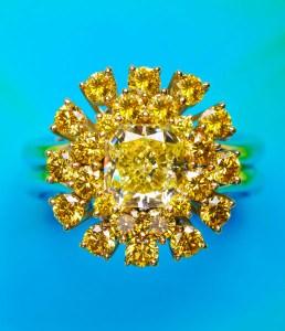 Yellow Diamond Ring AT167