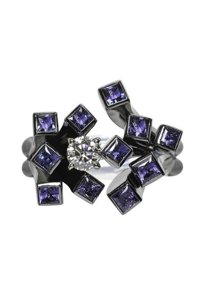 Diamond 0.350 ct, D VS1, EX Alexandrite 1.490 ct GIA Certificate