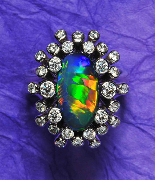 Black Opal Ring