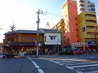 堀川下立売交差点の商店街